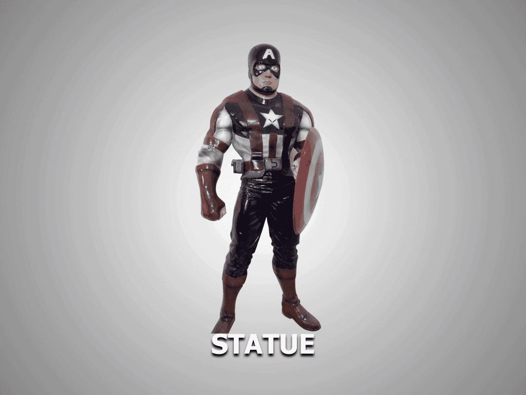 statue model captain america model