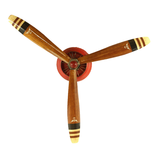 Vintage aircraft propellor display
